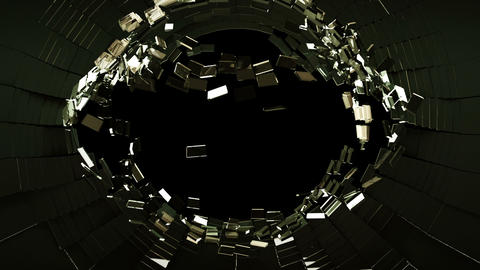 Cracked and Shattered black glass with slow motion. Alpha is included Animation