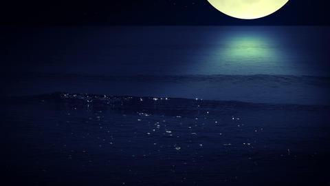 Night surf. Seamless Stock Video Footage