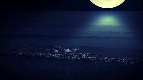 Night Surf. Seamless stock footage