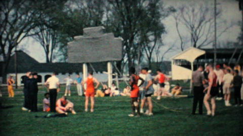 Track   And   Field   Competition  1962  Vintage  8mm  Film stock footage