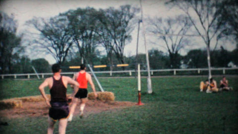 Track And Field Competition 1962 Vintage 8mm film Stock Video Footage