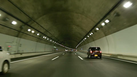 tunnel drive Footage