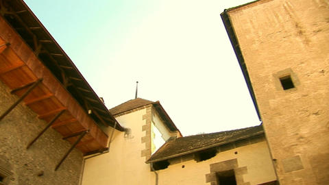 Chillon Castle b Stock Video Footage