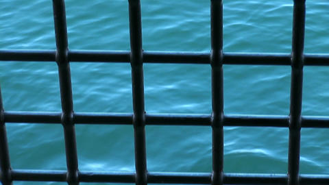 waves through the bars Stock Video Footage