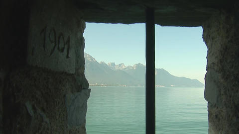 Alps from the window Stock Video Footage