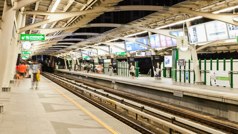 PEOPLE TAKING SUBWAY - TIME LAPSE Stock Video Footage