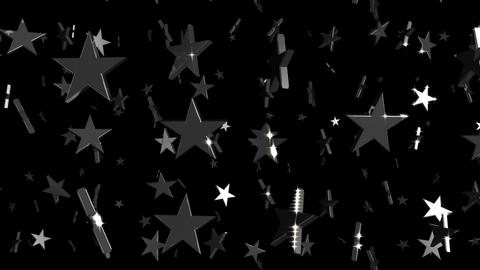 Looping Silver and Gold Stars Falling Animation