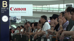 People are waiting for their relatives at Hong Kon Footage