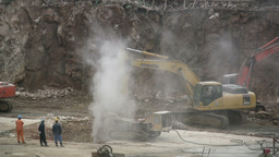 Excavators in China Stock Video Footage