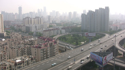 Flyover Chinese city Stock Video Footage