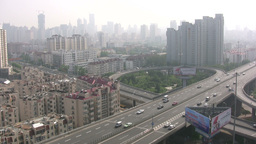 Flyover Chinese city Footage