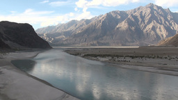 The majestic Indus river as it flows through the K Stock Video Footage