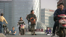Shanghai commuters Stock Video Footage
