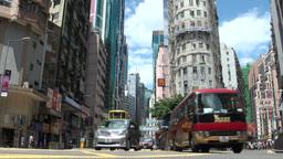 Beautiful crossing in Hong Kong Stock Video Footage