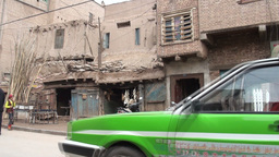 Streetlife in the old town of Kashgar Stock Video Footage
