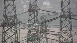 Power lines in China Stock Video Footage