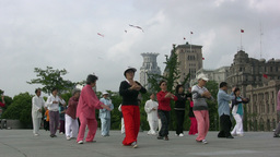 Martial arts (tai chi) in Shanghai Footage