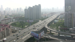 Highway and skyline of Qingdao in China Footage