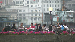 Shanghai, lifestyle, rich, wealthy, Bund, river, p Footage