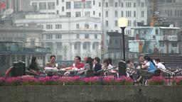 Shanghai, lifestyle, rich, wealthy, Bund, river, p Stock Video Footage