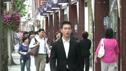 Expensive shopping street in Shanghai Stock Video Footage