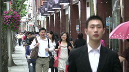 Expensive shopping street in Shanghai Footage