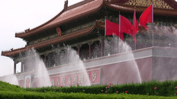 Forbidden City fountains in Beijing Stock Video Footage