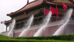 Forbidden City fountains in Beijing Footage