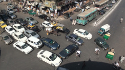 Chaotic Karachi crossing Stock Video Footage