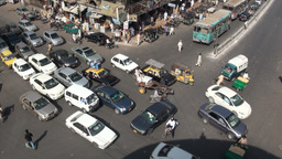 Chaotic Karachi crossing Footage