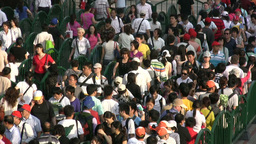 Expo 2010 waiting line Stock Video Footage