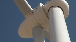 Close up of head of Chinese wind turbine Stock Video Footage