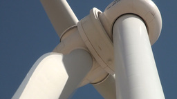 Close up of head of Chinese wind turbine Footage