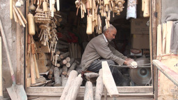 Old shop in Kashgar, China Stock Video Footage