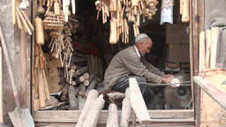 Old shop in Kashgar, China Footage