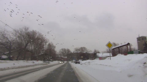Winter road Footage