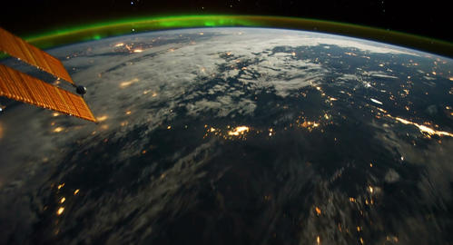 4 K Space Station 01 USA Stock Video Footage