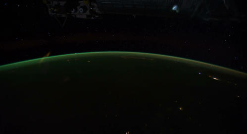 4 K Space Station 03 Africa Stock Video Footage