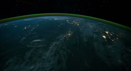 4 K Space Station 07 Europe India Stock Video Footage