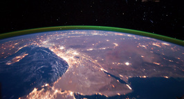 4 K Space Station 10 Middle East Stock Video Footage