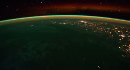 4 K Space Station 12 South Pacific Stock Video Footage