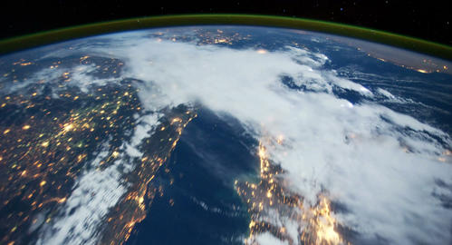 4 K Space Station 18 Western Europe Stock Video Footage