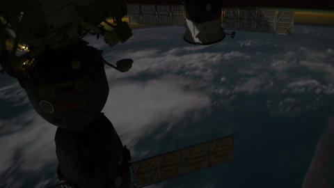 Space Station 02 Africa Stock Video Footage