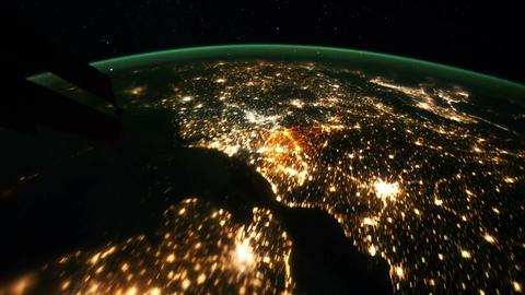 Space Station 17 Western Europe Arabia Stock Video Footage
