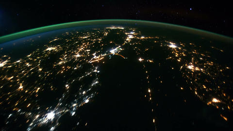 Space Station 17 Western Europe Arabia Stock Video Footage