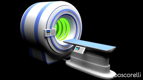 MRI CT Machine C4D Modelo 3D