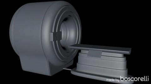 MRI CT Machine C4D 3D Model