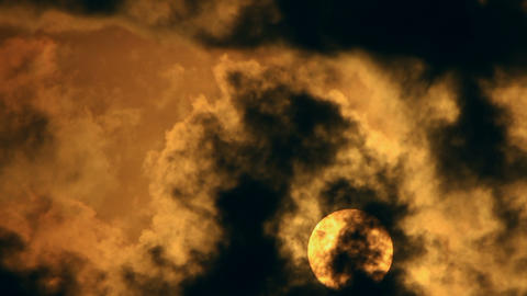 Spooky Sun and Clouds Time Lapse Stock Video Footage