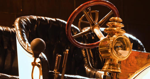 Replica of a old historic vehicle patent motorcar Live Action