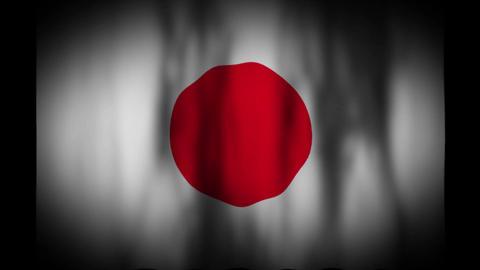 日本の国旗 CG動画